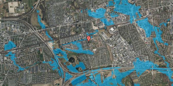 Oversvømmelsesrisiko fra vandløb på Albertslundvej 81, st. mf, 2625 Vallensbæk