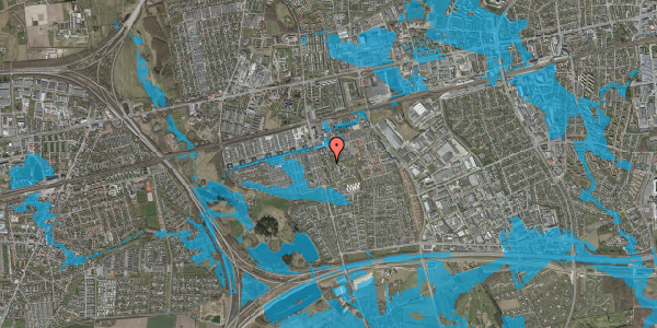 Oversvømmelsesrisiko fra vandløb på Albertslundvej 91, st. th, 2625 Vallensbæk