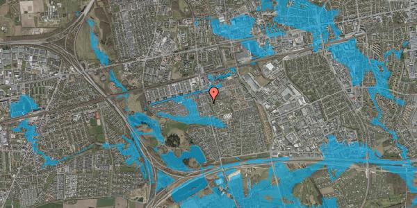 Oversvømmelsesrisiko fra vandløb på Albertslundvej 93, st. mf, 2625 Vallensbæk