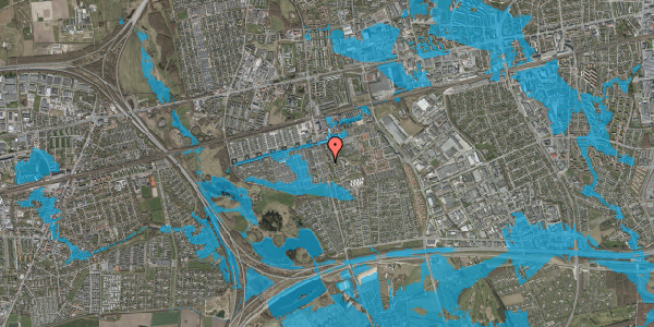 Oversvømmelsesrisiko fra vandløb på Albertslundvej 93, 2. th, 2625 Vallensbæk