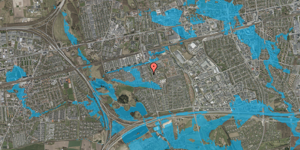 Oversvømmelsesrisiko fra vandløb på Albertslundvej 105, 2. mf, 2625 Vallensbæk