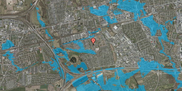 Oversvømmelsesrisiko fra vandløb på Albertslundvej 113, 1. th, 2625 Vallensbæk