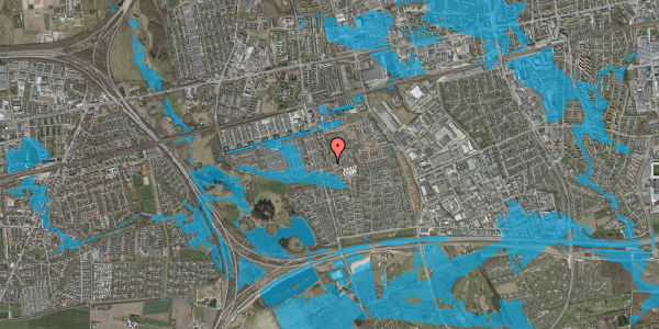 Oversvømmelsesrisiko fra vandløb på Albertslundvej 127, 2. mf, 2625 Vallensbæk
