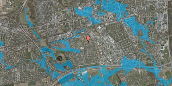 Oversvømmelsesrisiko fra vandløb på Bellishaven 1, 2625 Vallensbæk