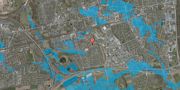 Oversvømmelsesrisiko fra vandløb på Bellishaven 11, 2625 Vallensbæk