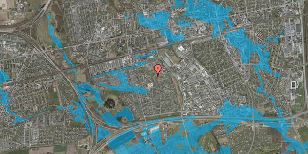 Oversvømmelsesrisiko fra vandløb på Bellishaven 13, 2625 Vallensbæk