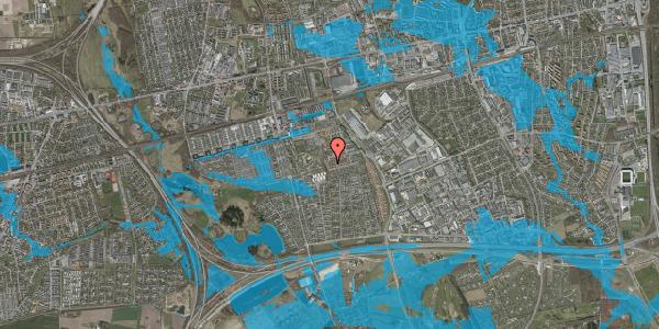 Oversvømmelsesrisiko fra vandløb på Bellishaven 18, 2625 Vallensbæk