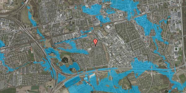 Oversvømmelsesrisiko fra vandløb på Bellishaven 25, 2625 Vallensbæk