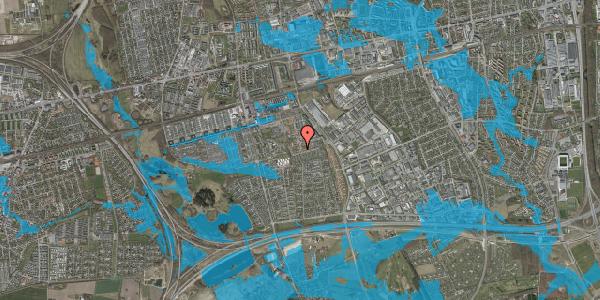 Oversvømmelsesrisiko fra vandløb på Bellishaven 35, 2625 Vallensbæk
