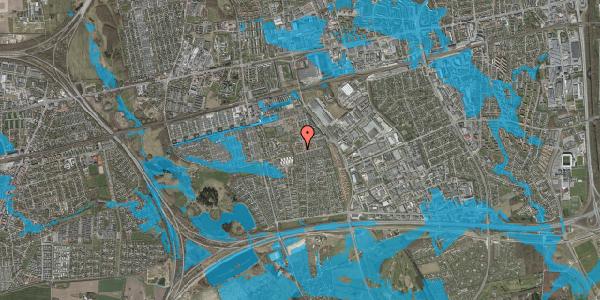 Oversvømmelsesrisiko fra vandløb på Bellishaven 36, 2625 Vallensbæk