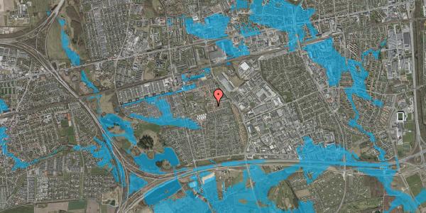 Oversvømmelsesrisiko fra vandløb på Bellishaven 44, 2625 Vallensbæk