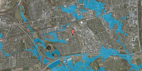 Oversvømmelsesrisiko fra vandløb på Bellishaven 47, 2625 Vallensbæk