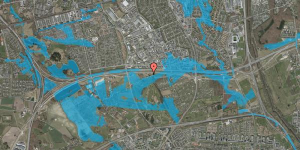 Oversvømmelsesrisiko fra vandløb på Brøndbyvej 154, 2625 Vallensbæk