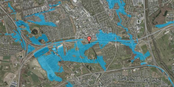Oversvømmelsesrisiko fra vandløb på Brøndbyvej 158, 2625 Vallensbæk