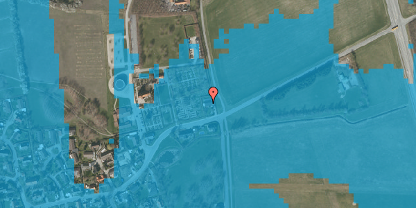 Oversvømmelsesrisiko fra vandløb på Brøndbyvej 190, 2625 Vallensbæk