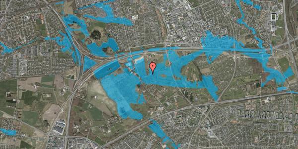 Oversvømmelsesrisiko fra vandløb på Brøndbyvej 208, 2625 Vallensbæk
