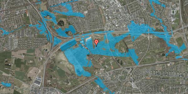 Oversvømmelsesrisiko fra vandløb på Brøndbyvej 212, 2625 Vallensbæk