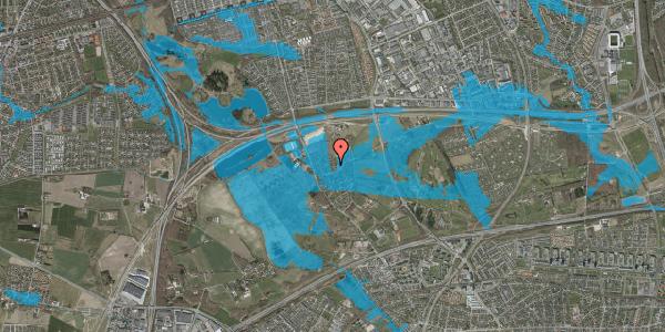 Oversvømmelsesrisiko fra vandløb på Brøndbyvej 214, 2625 Vallensbæk