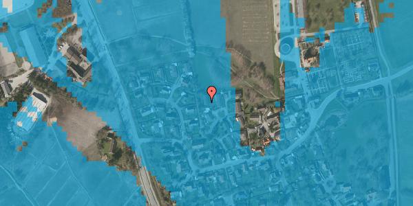 Oversvømmelsesrisiko fra vandløb på Bybakken 7, 2625 Vallensbæk