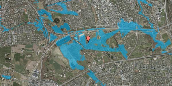 Oversvømmelsesrisiko fra vandløb på Bybakken 10, 2625 Vallensbæk