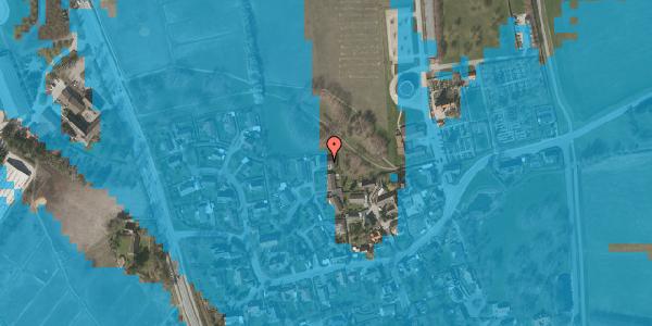 Oversvømmelsesrisiko fra vandløb på Bybakken 11, 2625 Vallensbæk