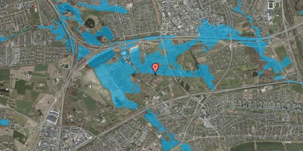Oversvømmelsesrisiko fra vandløb på Bygaden 18, 2625 Vallensbæk