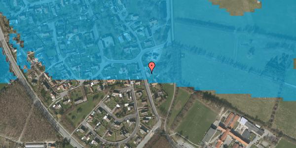 Oversvømmelsesrisiko fra vandløb på Bygaden 22, 2625 Vallensbæk