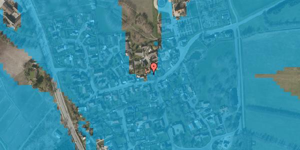 Oversvømmelsesrisiko fra vandløb på Bygaden 32, 2625 Vallensbæk