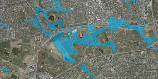Oversvømmelsesrisiko fra vandløb på Bygaden 34, 2625 Vallensbæk