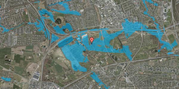 Oversvømmelsesrisiko fra vandløb på Bygaden 36, 2625 Vallensbæk