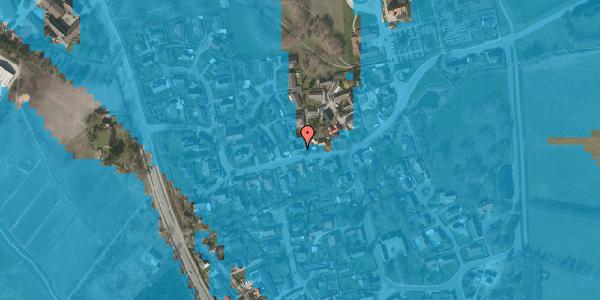 Oversvømmelsesrisiko fra vandløb på Bygaden 38, 2625 Vallensbæk