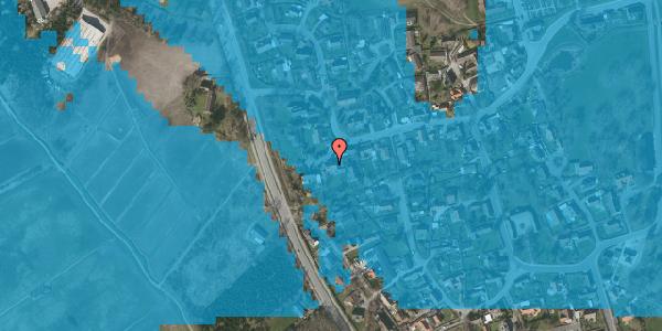 Oversvømmelsesrisiko fra vandløb på Bygaden 49, 2625 Vallensbæk