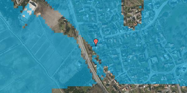 Oversvømmelsesrisiko fra vandløb på Bygaden 51, 2625 Vallensbæk