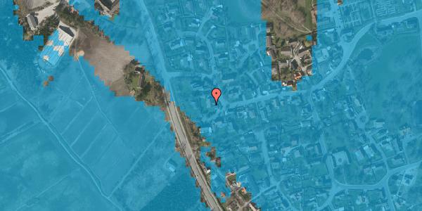 Oversvømmelsesrisiko fra vandløb på Bygaden 55, 2625 Vallensbæk
