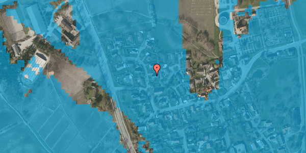 Oversvømmelsesrisiko fra vandløb på Bysvinget 2B, 2625 Vallensbæk