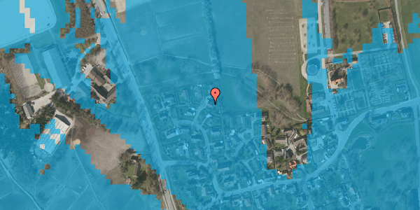 Oversvømmelsesrisiko fra vandløb på Bysvinget 8, 2625 Vallensbæk
