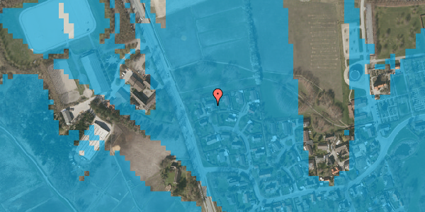 Oversvømmelsesrisiko fra vandløb på Bysvinget 13, 2625 Vallensbæk