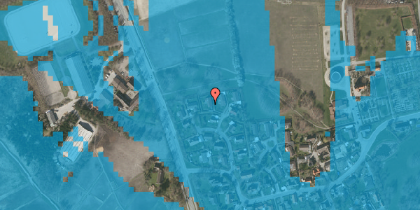 Oversvømmelsesrisiko fra vandløb på Bysvinget 14, 2625 Vallensbæk