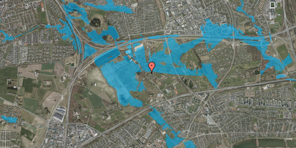 Oversvømmelsesrisiko fra vandløb på Engvej 9A, 2625 Vallensbæk