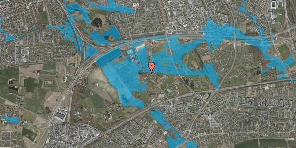 Oversvømmelsesrisiko fra vandløb på Engvej 9B, 2625 Vallensbæk