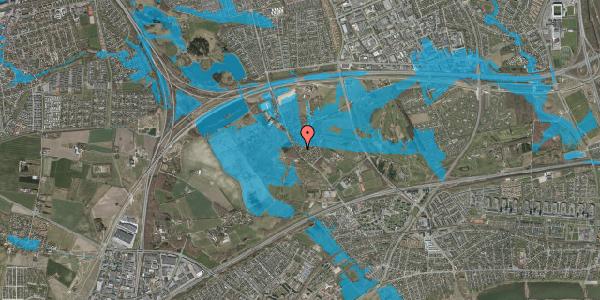Oversvømmelsesrisiko fra vandløb på Engvej 9D, 2625 Vallensbæk