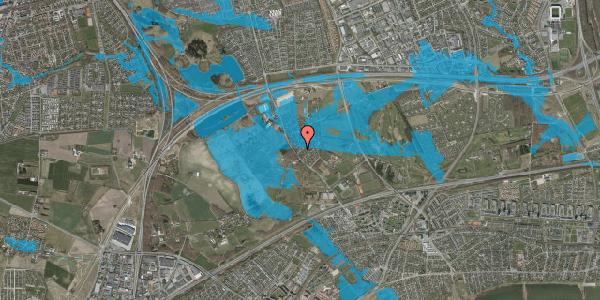 Oversvømmelsesrisiko fra vandløb på Engvej 13, 2625 Vallensbæk