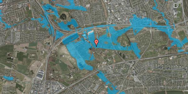 Oversvømmelsesrisiko fra vandløb på Engvej 22, 2625 Vallensbæk