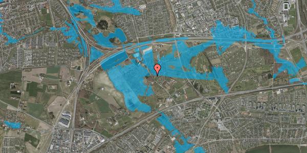 Oversvømmelsesrisiko fra vandløb på Engvej 27, 2625 Vallensbæk