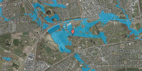 Oversvømmelsesrisiko fra vandløb på Engvej 36, 2625 Vallensbæk