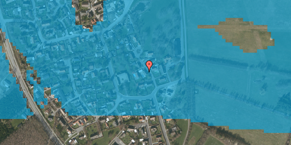Oversvømmelsesrisiko fra vandløb på Gartnerbakken 5, 2625 Vallensbæk