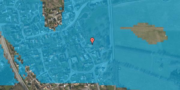 Oversvømmelsesrisiko fra vandløb på Gartnerbakken 8, 2625 Vallensbæk