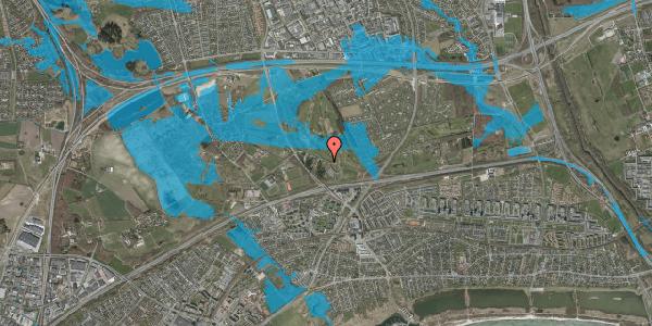 Oversvømmelsesrisiko fra vandløb på Golfsvinget 14, 2625 Vallensbæk