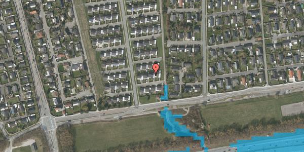Oversvømmelsesrisiko fra vandløb på Horsbred 14, 2625 Vallensbæk