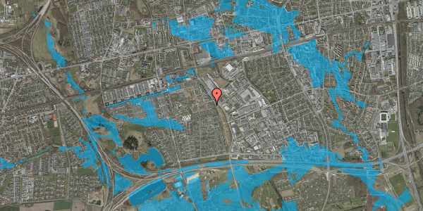 Oversvømmelsesrisiko fra vandløb på Hyrdeengen 51, 2625 Vallensbæk